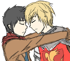 merthur sketch by DemonKikyo