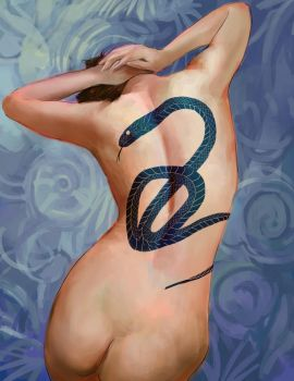 Quick study - Woman's body with tattoo by wyd1985
