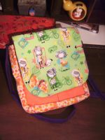 japanese fabric bag by curlytopsan