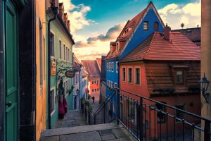Alleyway of Meissen by hessbeck-fotografix