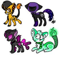 Halloween Adopts :D by RoseyWingedCat