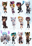 Adoptable Chibi Auction [OPEN] by Stefdiamel