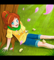 .:Genny under a Tree:. by Rorita-Sakura