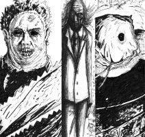 Leatherface,Tall Man,Jason by DougSQ