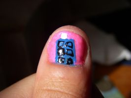 TARDIS nails by xxX-Co-Jack-Xxx
