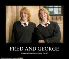 Fred and George by MorganaDarkness