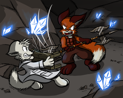 Cave Fight by Virmir