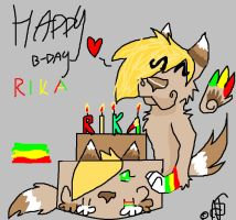 happy b-day rika by piracikowata