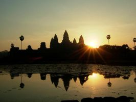 Sunrise of Angor Wat by Whitewolf705