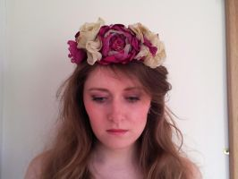 Nymph Floral Flower Crown Headband by paradiseshoretwins
