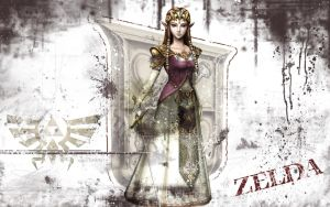 Zelda Wallpaper - White Grunge by Desidus