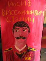 Stalin painting by TheCreeperFairy