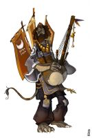 Kora player by Catell-Ruz