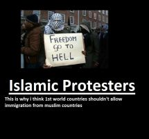 Islamic Protesters Suck by n0-username
