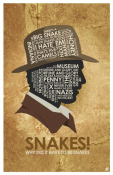 Indiana Jones Quote Poster by OutNerdMe by outnerdme