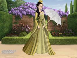 Anne Boleyn in yellow dress by LadyBolena