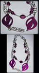 Two-Tier Purple Necklace by Lonewolf-Eyes