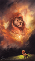Mufasa's ghost by Namisis