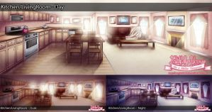 FY Background: Kitchen / Living Room by MagicalSakura