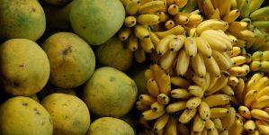 Pamelos and bananas, Thailand by dpt56