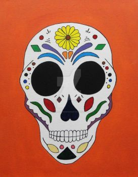 Sugar Skull #1 by Black-Arrow-Workshop
