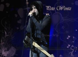 Pete Wentz, hearts, Wallpaper by MCRmyWAY