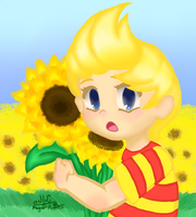 Lucas and Sunflowers by HirokoTheHedgehog
