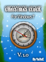 Christmas Clock - House Motive by yaxxe