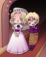 France and England marriage by VooDooDollMaster