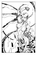 Ultimate Visions #1 Cover Inks by devgear