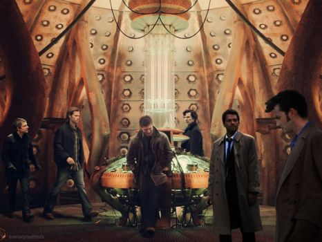 SuperWhoLock in the TARDIS by designbywho