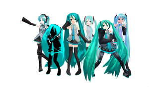 MMD - Favourite Miku Models by SuperPichi