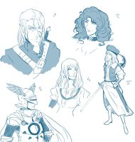 The Witcher sketches by ankalime