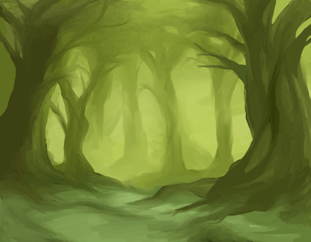 forest wip by Sunny-Winter-Star