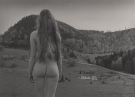 Landscape with a girl by jaremaphotography