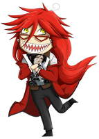 Chibi Grell by garrchomped