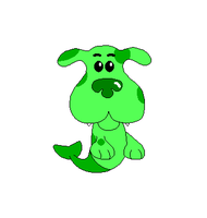 Green Puppy as a Bubble Puppy by Gamekirby