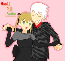 Soul and Maka: Prom Night by KitsPokePeople