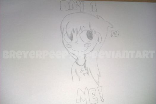 Drawing Challenge - Day 1 - Me by BreyerPeep124