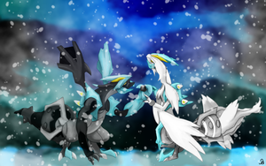 Kyurem Black and White by SimpleDerk
