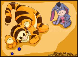 Baby Tigger and Eeyore by MissKingdomVII