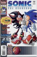 Sonic The Hedgehog Comic -Sonadow Cover by LukeVei-Da-Hedgehog