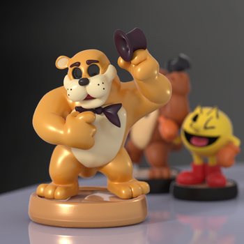 Golden Freddy Amiibo! by SmashingRenders