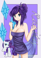 Human Mane 6: Rarity by NetaMenta