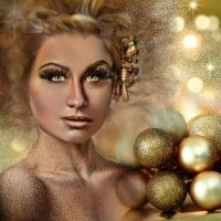 Golden Christmas by CaroleBailly-Maitre
