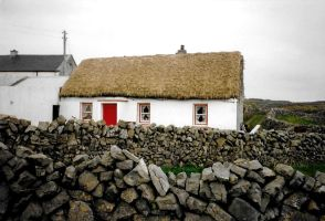 The Cottage with the Red Door by Syltorian