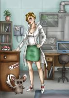 Professor Juniper -Pokemon B+W by aliceazzo