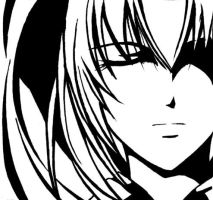 black and white: Tomoe by dragonflyblues