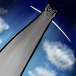 Towering Long Cat by bluealiceroses93