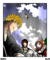 Bleach- Ichigo, Chad, Orihime by Nintai-oni